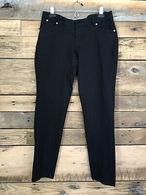 Womens Shinestar Black Pants Stretch Jeggings Sz L Skinny