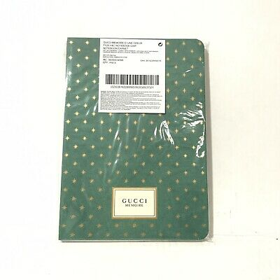 Gucci Memoire d'une Odeur Limited Edition Journal Note Book Green Gold NEW