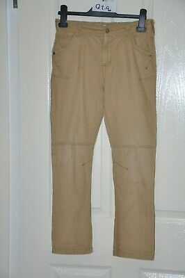 F&F boy's camel / brown canvas jeans, ages 11-12 yrs, height 152 cm, waist 26.5""