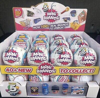 5 SURPRISE! MINI BRANDS MADE BY ZURU! NEW! AUTHENTIC- One Ball