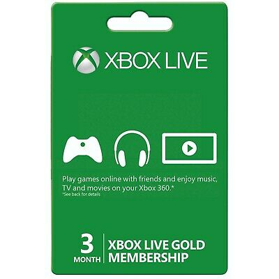 3 months XBOX LIVE GOLD 3 months membership - US Region - 5% off