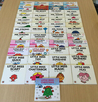 49 x Roger Hargreaves - MR MEN AND LITTLE MISS - Mini Books - Christmas, Tall