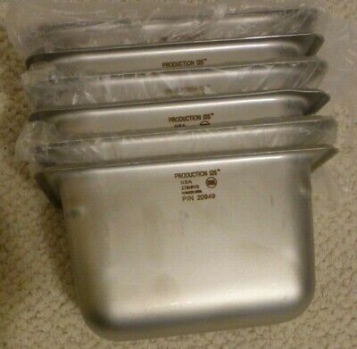 LOT of 6 Production 125 Stainless Steel Size 6'' Deep Steam Table Pans, 247619VS