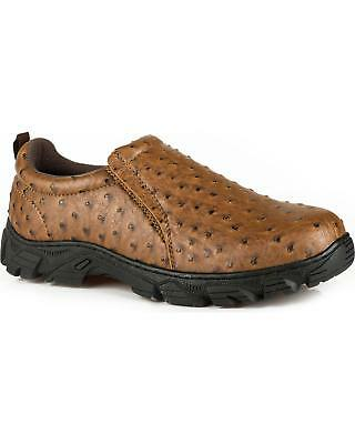 09-020-1571-0408 BL Round Toe Roper Men/'s Cotter Ostrich Print Casual Shoes