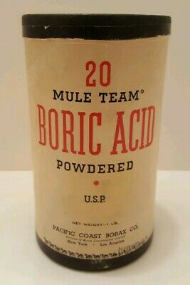 Old Advertising Box 20 Mule Team Boric Acid Powdered US Borax & Chemical Corp