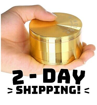 3.0 Inch Extra Large Tobacco Grinder Sharp Metal Spice/Herb Crusher - Gold