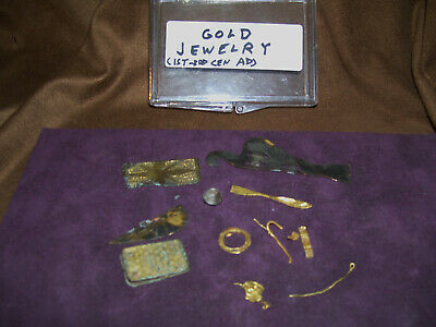Group Lot of Roman Byzantine Gold Plate Jewlery Parts  Circa 1st-3th Century AD