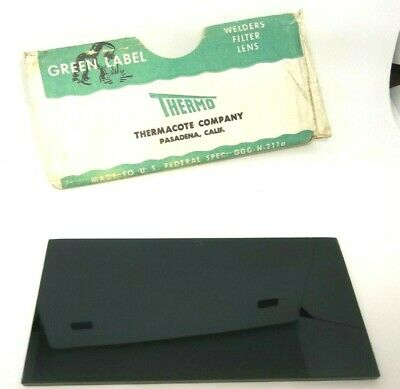 Vintage Thermo Green Label Shade #5 Lens Welding Helmet Filter Plate