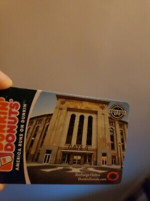NEW YORK YANKEES STADIUM Dunkin Donuts Gift Card