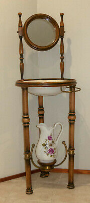 Antique Wash Basin, Pitcher and Stand