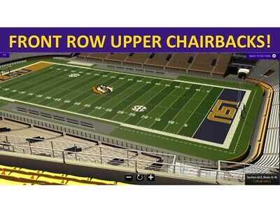 2 TEXAS LONGHORNS @ vs LSU TIGERS 9/12/20 - UPPER SIDELINE FRONT ROW CHAIRBACKS!
