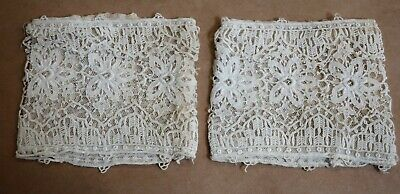 Beautiful Antique Lace Pair Of Ladies Cuffs