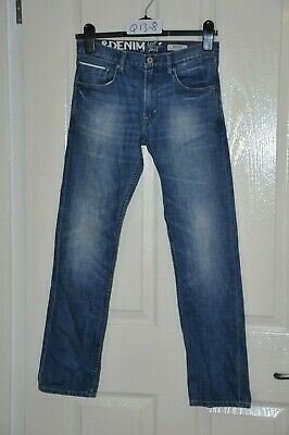 "H&M narrow slim leg blue denim jeans, age 12-13 yrs, waist 28"", leg 28"""