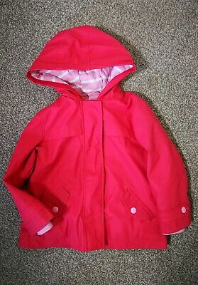 MS Kids Girls Jacket Coat Long Sleeve Waterproof Age 2-3 Years Pink Hoodie   I