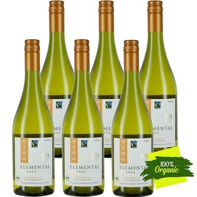 Elemental Reserva Chardonnay BIO Fairtrade Weißwein Trocken 13,5% vol 6 x 75cl