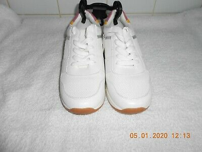 Girls M&S KIDS New White Lace up Trainers Size UK 2 BNWT £24