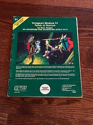 S1 Tomb Of Horrors Advanced Dungeons & Dragons 1st ed. Dungeon Module TSR