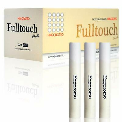 HAGOROMO Fulltouch Color Chalk 1 Box [72 Pcs/White] White WELL COATED DUST FREE.