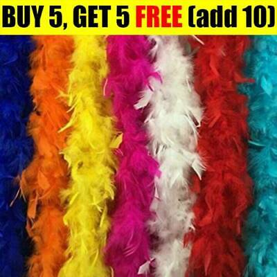 2M Black Pink..Feather Boa Hen Night Parties Deluxe Fancy Dress 11 Colour G