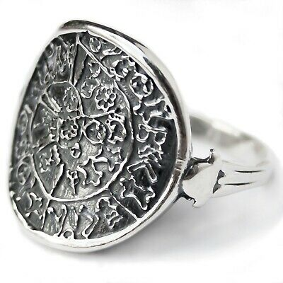 Minoan Phaistos Disk Ring Ancient Greece Motif Jewelry STERLING SILVER HANDMADE