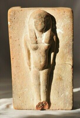 Authentic Ancient Egyptian Terracotta Woman on Bed - New Kingdom