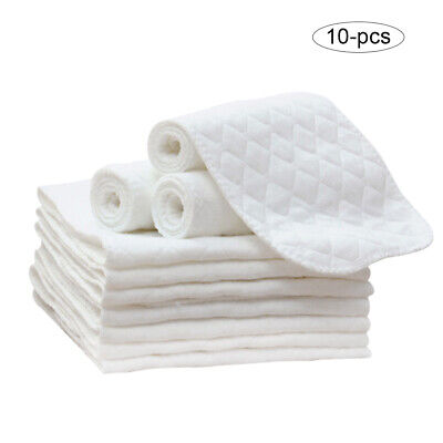 10Pcs 3-Layers Ecological Diaper Newborn Baby Diapering Cloth Cotton Washable