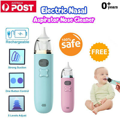 Baby Music Nasal Aspirator Electric Safe Hygienic Nose Cleaner Snot Suction AU