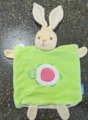 "Kaloo Bunny Rabbit Baby Security Blanket Lovey 15"" Hand Puppet"