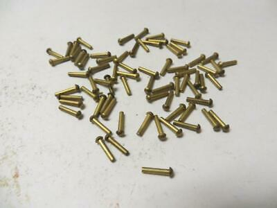 "1/16"" x 5/16"" Solid Brass Round Head Brass Rivets 100 Pcs. New U.S.A."