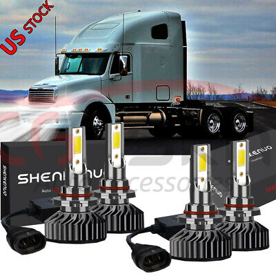 9005 9006 LED Headlight Bulb Conversion Kit For Freightliner Columbia 1996-2016