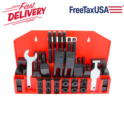 Clamping Kit Hold Down 1/2in-13 Stud 5/8 Inch T-Slot for Bridgeport Mill 58 Pc