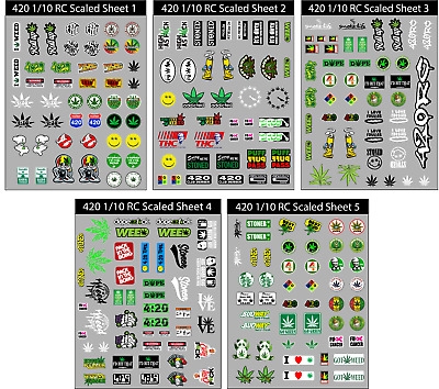RC Scaled 420 decals stickers (multiple options) traxxas axial redcat trx-4