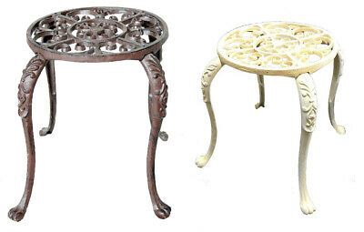 Metal Cast Iron Pot Plant Stand Brown Or White