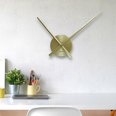 Walplus Designer Flexi Minimal Wall Clock Contemporary Brass Gold, home deco
