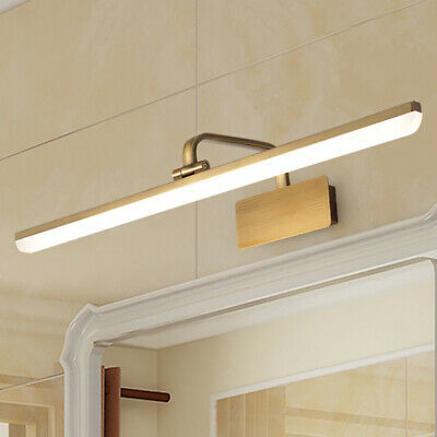 Vintage Modern Picture Light LED Wall Sconce Lighting in Antique Brass Finish