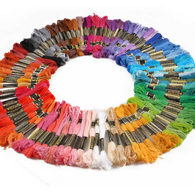 Multi-Color Cross Stitch Floss Thread Embroidery Sewing Skeins Polyester Cotton