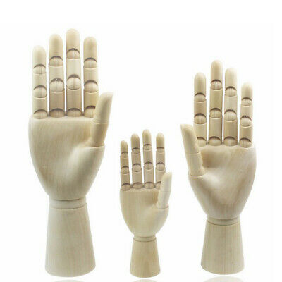 18cm 25cm 2pcs Jointed Wood Hand Mannequin Jewelry Stand Watch Rack Display