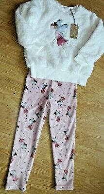 Next, Girls Pyjamas, Fleecy,Sparkly, Fairy Motif, Age 5-6 Bnwt
