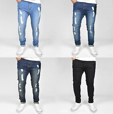 "SK1 Boys Kids Super Stretch Skinny Fit Ripped Distressed Jeans, 22"" -29"" Waist"