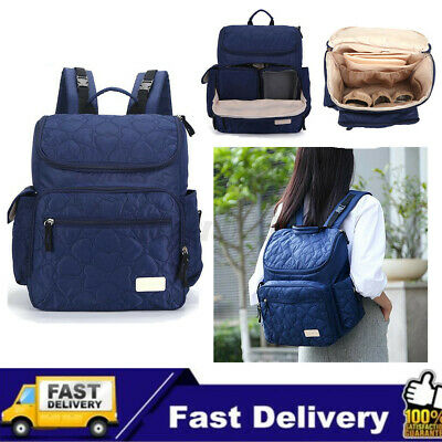 AU New Luxury Large Mummy Maternity Nappy Diaper Bag Baby Tote Travel Backpack