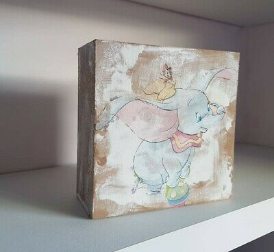 Hand crafted, decoupage dumbo ornamental, art work,