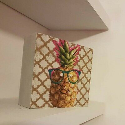 Hand crafted, decoupage pinapple ornamental, art work,