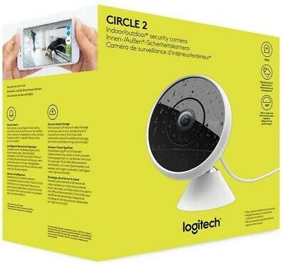 Logitech Circle 2 Indoor & Outdoor Wired Smart Security Camera 1080p HD video