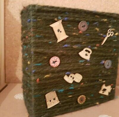 Hand crafted, ornamental, art work, sewing theme art work
