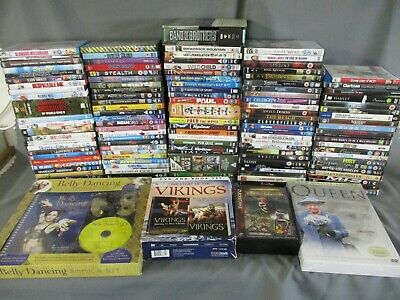 120+ DVDs, Some Box Sets, Mixed Genre, Films, Fitness, Childrens, Job Lot