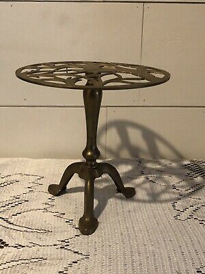 Vintage Gatco Solid Brass Flying Geese Ducks Plant Stand Trivet Dish Wedding