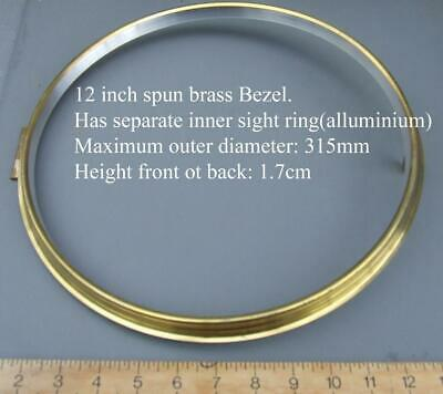 12 inch clock bezel, brass unused for american &  SPRING dial clocks
