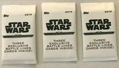 2019 Topps Star Wars Journey to the Rise of Skywalker Battle Lines 3 Packs NEW