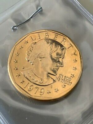1979 Gold Plated Susan B. Anthony Dollar Coin UNC FREE SHIPPING