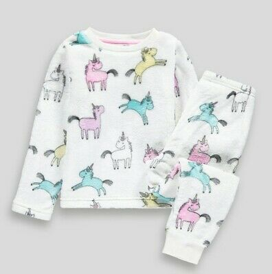 Girls Unicorn Fleece Pyjamas - age 3-4 years.  BNWT.  Ideal Gift.